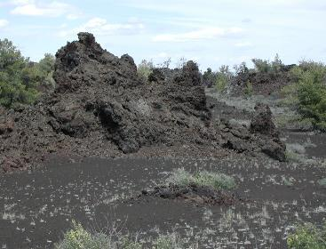 Craters of the Moon Lava Beds with Rafted Lava Blocks