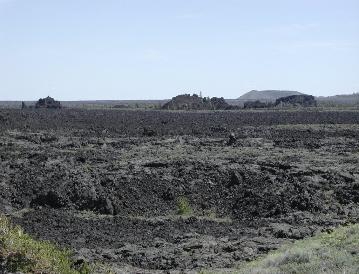 Craters of the Moon Rafted Block in Lava Field