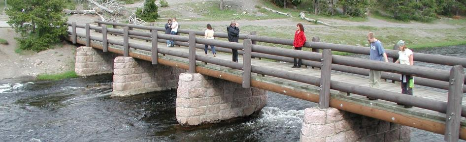 Bridge at Yellowstone National Park