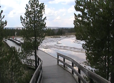 Geyser Basin Boardwalk in 2011