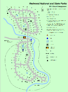 Mill Creek Campground Map