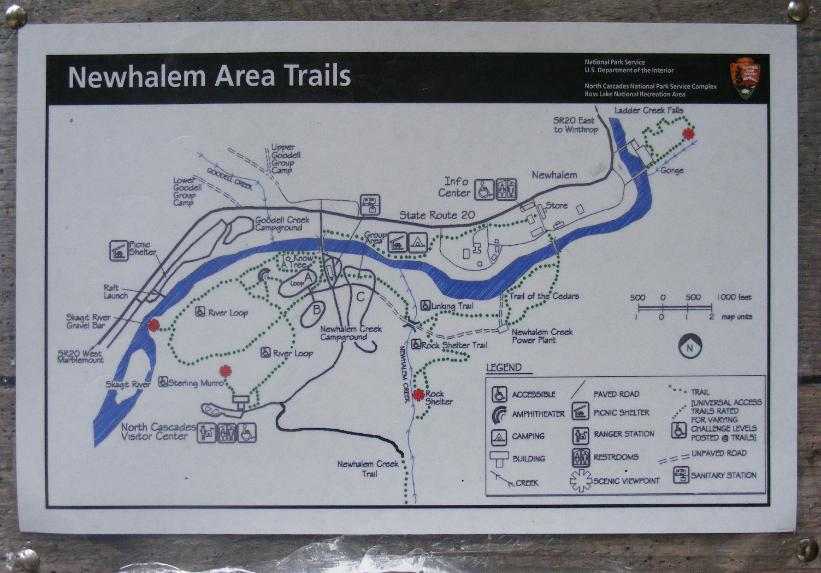 Newhalem Area Trail Map