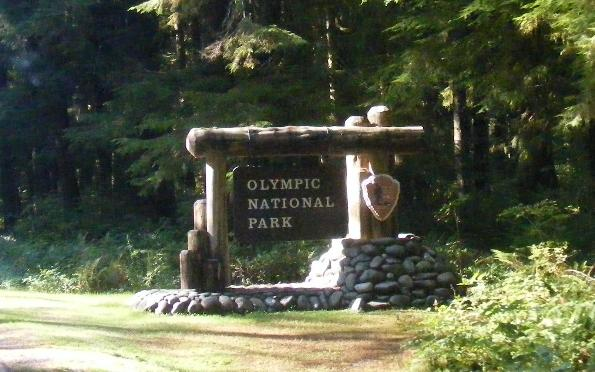 Olympic National Park Entrance Sign - Rialto Beach - Mora Campground