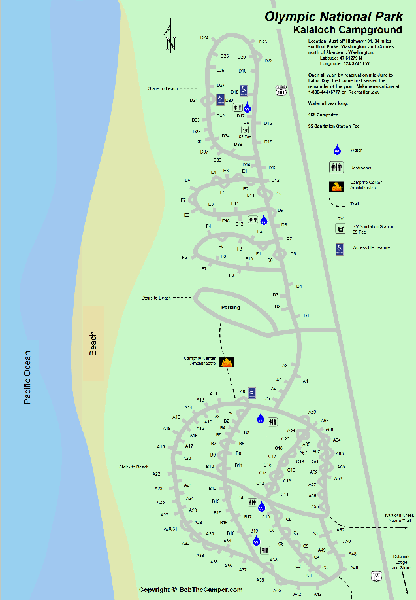 Olympic National Park Campground Maps