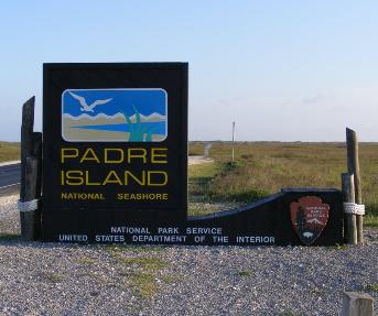 Padre Island Entrance Sign