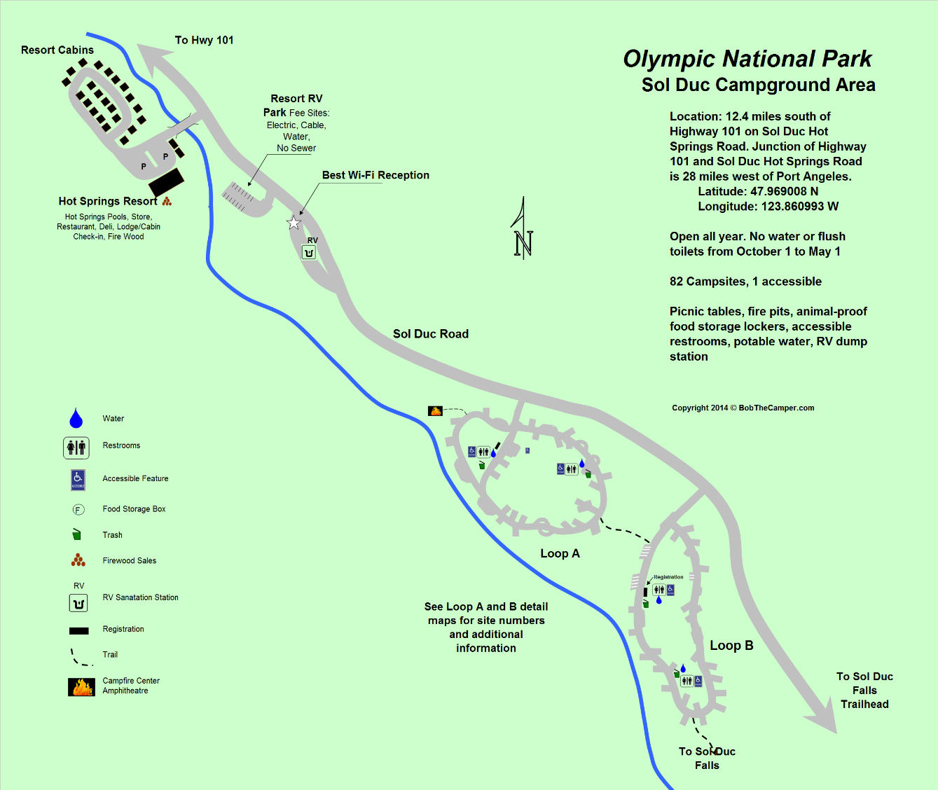 Sol Duc Campground Area Olympic National Park