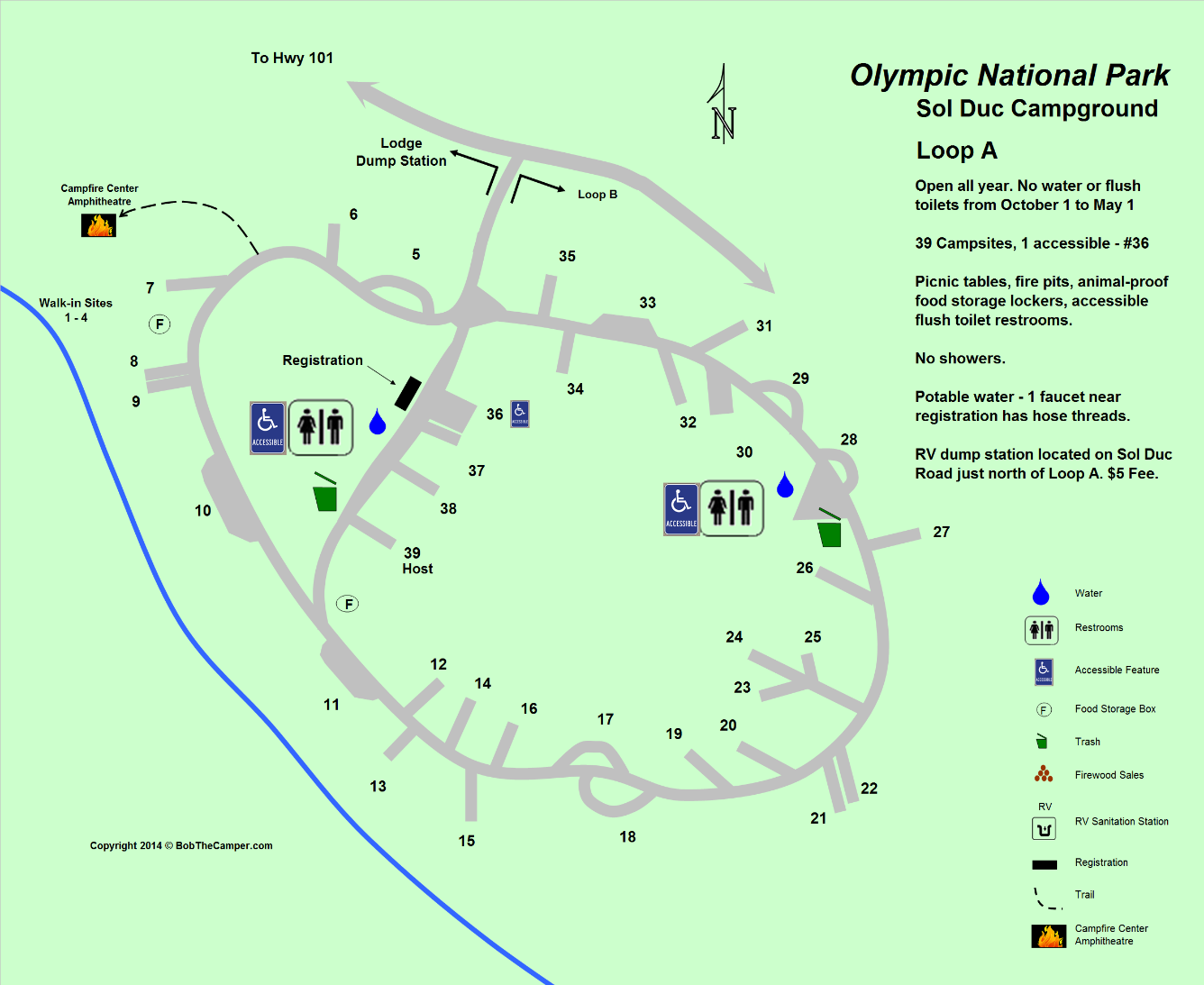 Sol Duc Campground Loop A Map - Olympic National Park