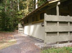 Staircase Campground Rest Room Building  - Olympic National Park